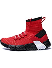 Hombres Zapatillas Deportivas al Aire Libre Deporte Zapatos Atlético de  Alta Top Transpirable Zapatos de Baloncesto bb600c9aab7b2