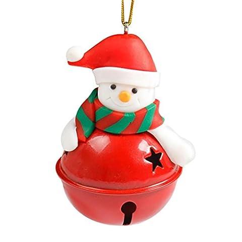 HUHU833,Christmas Tree Decoration Bells Ornament Home Decor Holiday Gift Old Man Snowman (Snowman)