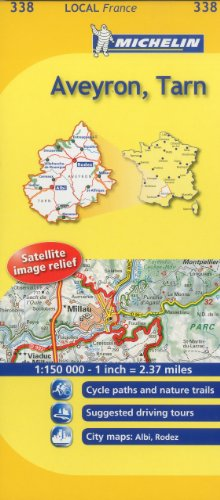 Aveyron, Tarn Michelin Local Map 338 (Michelin Local Maps)