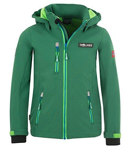 Trollkids Jungen Trainingsjacke Grün grün 4 Jahre (Soft-shell-jacke Iv)