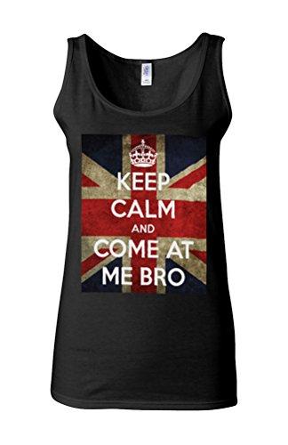 Keep Calm and Come at Me Bro Story Novelty White Femme Women Tricot de Corps Tank Top Vest *Noir
