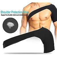 Filfeel Apoyo de hombro, soporte de hombro ajustable con almohadilla de presión para la prevención de lesiones, esguince, dolor, tendinitis y bursitis (M42-45cm)
