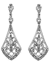 1 paio di orecchini pendenti donne goccia ciondola cristallo di strass per  la festa di ballo 1066f471c0c7