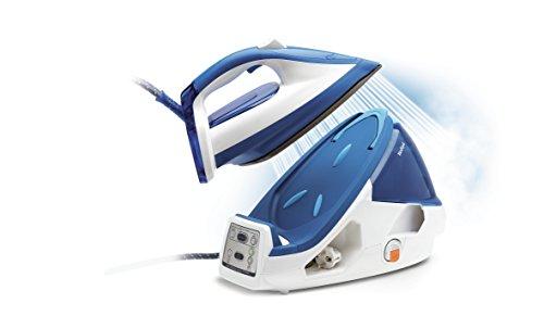 Calor GV8932C0 Centrale Vapeur Haute Pression Pro Express Control Plus 7 bars Effet Pressing jusqu'à 450g/min 3 Réglages Automatiques 2400W Générateur Repassage Blanc et Bleu