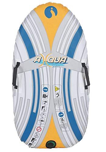 Dynamic24 2in1 Schwimmbrett Wellenreiter Bodyboard 120cm Schwimmhilfe Wasserbrett Surfbrett Schlitten SUP aufblasbar