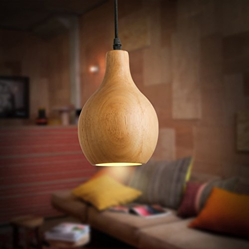Buona lampadario Creativo Lampadario individualità legno zucca singolo capo Lampadario Nordic Sala da pranzo Soggiorno creativo lampada Art