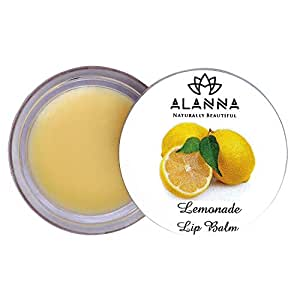 Alanna Naturally Beautiful Lemonade Lip Balm with Shea Butter Coconut and Lemon Oil for Men and Women (8g)