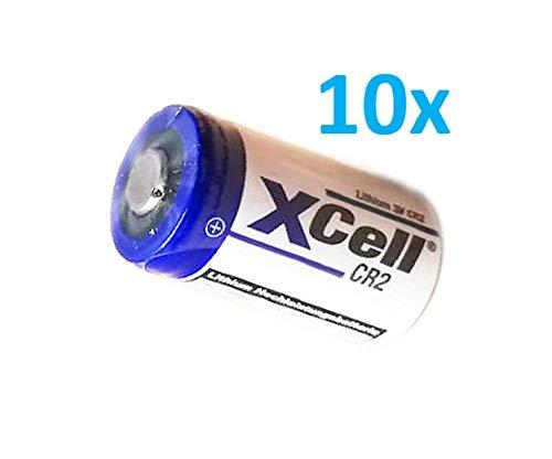 10x XCell Fotobatterie CR2 Lithium Batterie 3V 850mAh CR15H CR15H270 CR17355 DLCR2 CR15H270 Akkuman.de Set (10er)