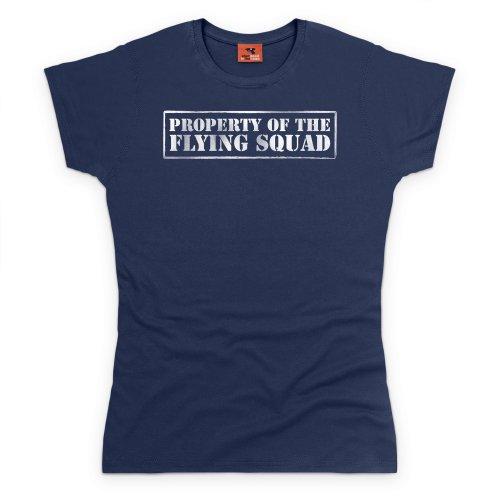 Property of The Flying Squad T-Shirt, Damen Dunkelblau