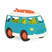 ‏‪Wonder Wheels by Battat – Camper Van – Toy Truck with Opening Roof & Detailed Interior For Kids Age 1 & Up – 100% Recyclable, Aqua‬‏