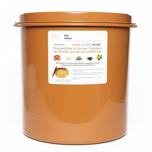 Crazy Korean Kochen Premium Kimchi, Sauerkraut Gärung und Container mit Innen Vakuum Deckel - Vakuum-container