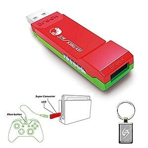 Gam3Gear Brook Super SW Konverter für Xbox One Xbox 360 auf Nintendo Switch Controller Adapter mit Gam3Gear Schlüsselanhänger