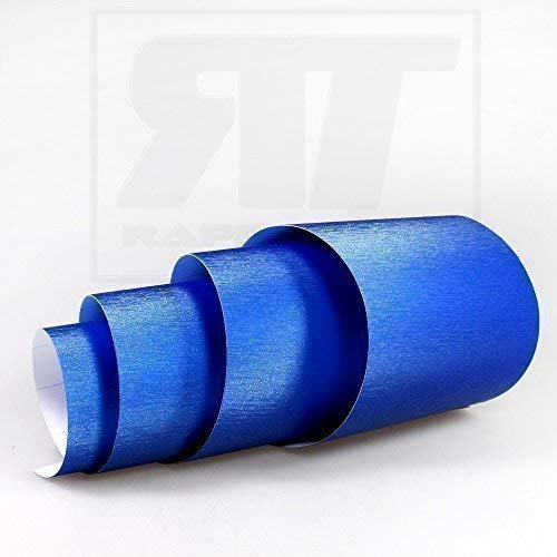 TipTopCarbon 16,45€/m² Aluminium gebürstet Autofolie Blau 3m x 1,52m Auto Folie BLASENFREI mit Luftkanälen 3D Flex