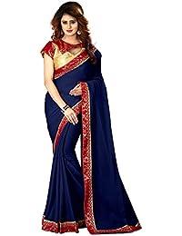 Greenvilla Designs Blue Chiffon Bollywood Saree With Blouse
