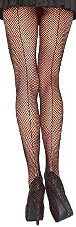 Leg Avenue collants noirs transparents résille pourfemmes avec couture arrière une taille d'environ 38 à 40