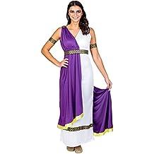 Disfraz para mujer de la diosa olímpica | vestido + cinturón & cinta de pelo (XXL | no. 300463)