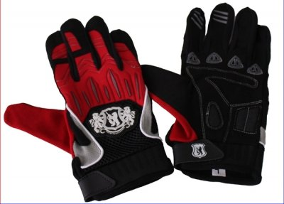 Paintball Handschuhe - rot/schwarz, Größe: M