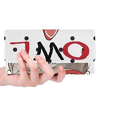 Einzigartige Nette Karikatur-Eulen-Gläser auf Punkt-Frauen-dreifachgefalteten Geldbörsen-Langen Geldbeutel-Kreditkarteninhaber-Fall-Handtasche