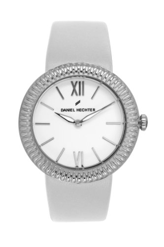 Daniel Hechter-BB-DHD/007 Women's Quartz Analogue Watch-White Face-White Leather Strap