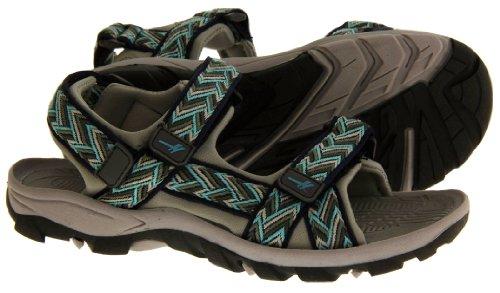 Gola ALP209 Réglables Velcro Sport Randonnées Sandales Femmes - Navy Blue & Grey