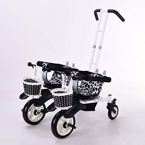 Jixi Passeggino gemellare for Triciclo Bicicletta for Bambini Doppia Bicicletta Cinque modalità gratuite con Protezione di Sicurezza a 3 Punti Carrozzina (Color : B)