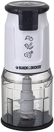 Black+Decker 500W Dual Blade Vertical Chopper with Ice Crusher, White - FC300-B5