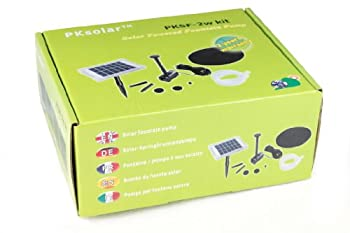 Solar Fountain Pump 2w - Floating Water Pump For Small Pond, Garden, Water Feature, Bird Bath 70 Cm Height By Pk Green 6