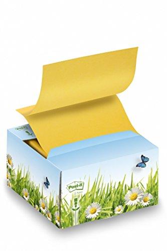 Post-it Recycled - Dispensador de Z-Notes (76 x 76 mm, papel reciclado)