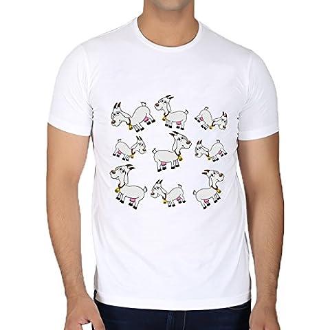 Camiseta Cuello Redondo para Hombre - Una Cabra Lechera Con Una Campana by zorg
