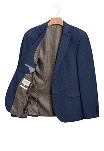 next Uomo Completo Testurizzato: Giacca: Vestibilità Slim Blu