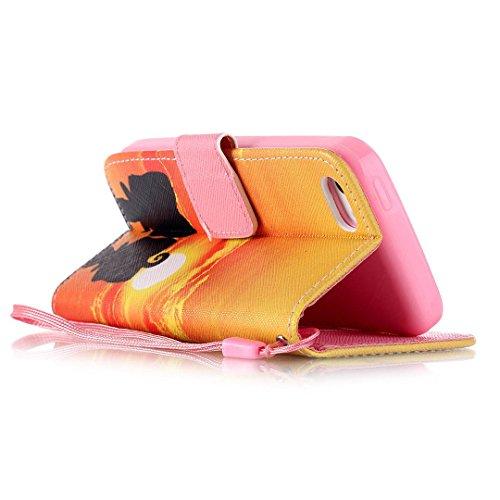 iPhone 5C Hülle im Bookstyle, Xf-fly® PU Leder Flip Wallet Case Cover Schutzhülle für Apple iPhone 5C Tasche Handytasche Schutz Etui Schale Handyhülle P-5