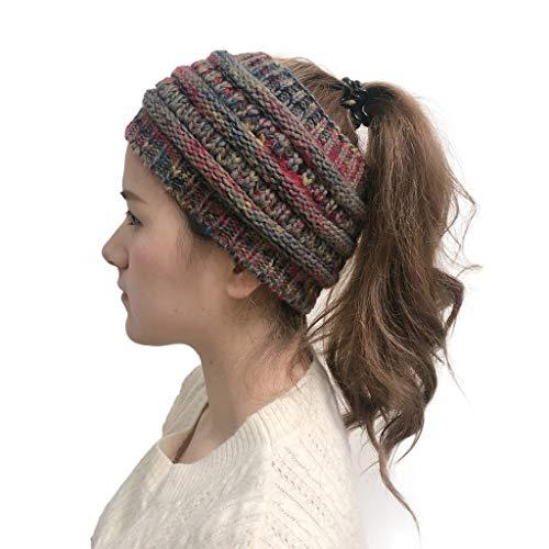 PLOT Damen Stirnband Elastische Winter Warme Strickmuster Gestrickte Bandanas Kopfband Haarband Headband -