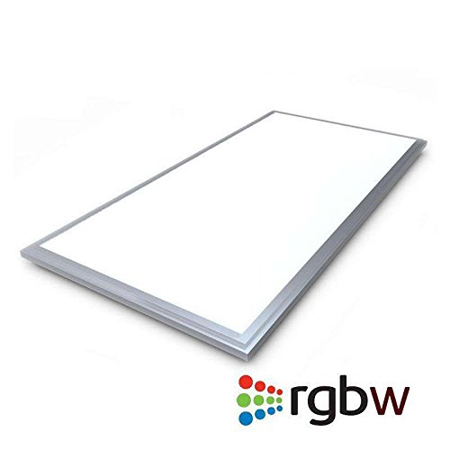 Panel LED 65W, RGB + Blanco Frío CW (6000K), RF, 60x120cm, Regulable