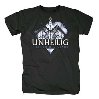 UNHEILIG - Lichter der Stadt - Logo - Black - T-Shirt Größe M