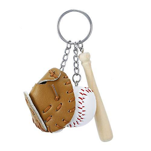 KENYG Creative Simulation Baseball Anhänger Schlüsselanhänger, Schlüsselanhänger, Tasche, Accessoires, Modeschmuck, braun, NA