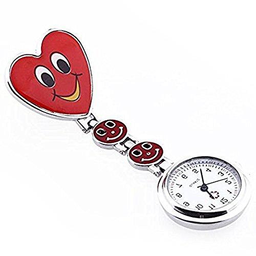 Hrph Krankenschwester Armbanduhr reizendes Herz-Lächeln-Gesicht mit Medical Nurses Mode-Quarz-Uhren