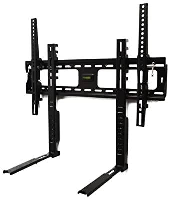 Universal Super Slim Flat TV Wall Bracket with Tilt and Shelf for 32 - 60 inch LED Plasma LCD OLED Curved Screens
