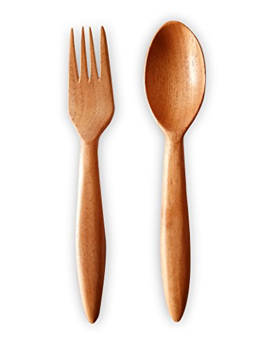 Uncommon Stuffs Spoon & Fork Set Made with Neem Wood
