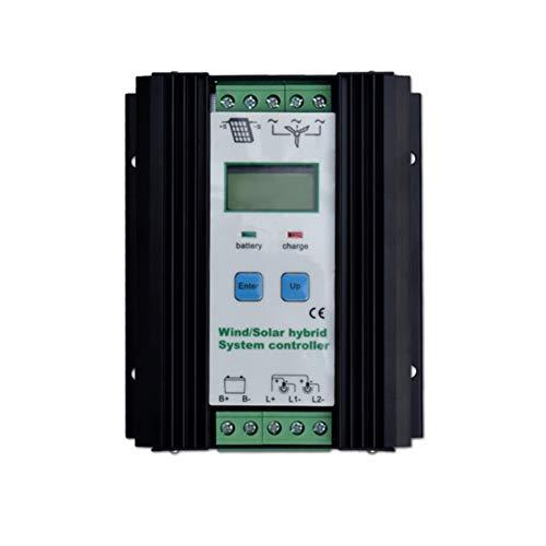 PresupuestoDe color negroMaterial: aleación de aluminioVoltaje nominal del sistema: 12V / 24V (identificación automática)Potencia máxima de entrada: 500W Wind + 300W Solar para sistema de 24VPotencia máxima de entrada: 300W Wind + 200W Solar para sis...