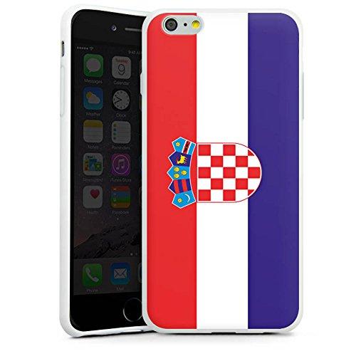Apple iPhone X Silikon Hülle Case Schutzhülle Kroatien Flagge Fußball Silikon Case weiß
