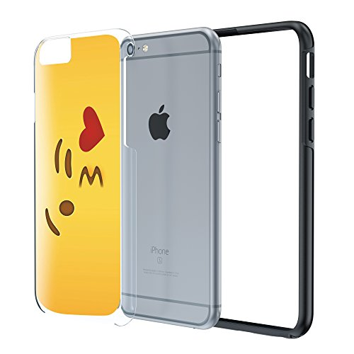 iPhone 6 6S Plus 5.5 Case, True Color® Collection Emoji 3D gedruckd hybride rigide + Soft TPU Bumper Coque résistante Kuss glänzender Herz überall