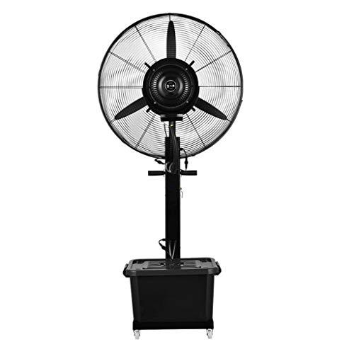 Standventilator Trommelventilator Luftbefeuchter Großer Oszillierender Nebel-Spray-Ventilator-Kühlboden-Luftbefeuchter Industrieller Zerstäubungs-Ventilator mit Wasser-Behälter der Räder / 42L, Höhe 1