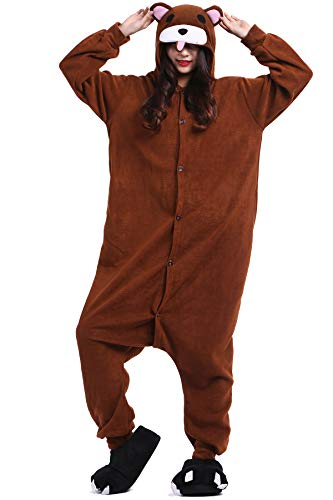 Pigiama Animati Adulti Kigurumi Orso Bruno Cartoni Animale Cosplay da Unisex