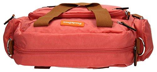 SwankySwansKempton Ladies Day Multi Zip L - Borse a Tracolla donna Coral Pink