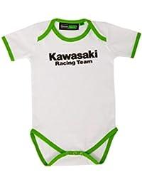 Kawasaki Racing Team Body para bebé, color blanco y verde