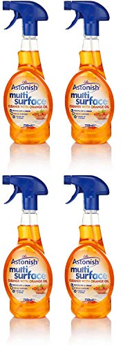 4 X Astonish Multi Surface Cleaner Trigger Spray 750Ml With Orange Oil