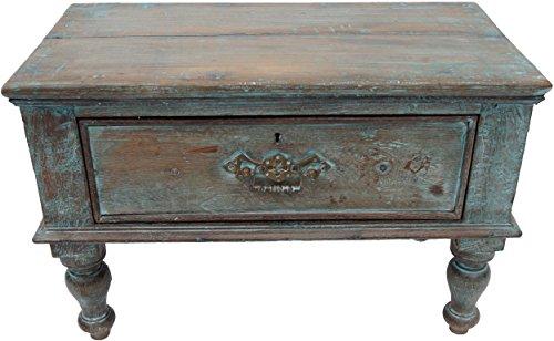 Guru-Shop Table Basse Antique Couleur, Table Basse, Vert Antique, Teck, 35x56x27 cm, Tables Basses