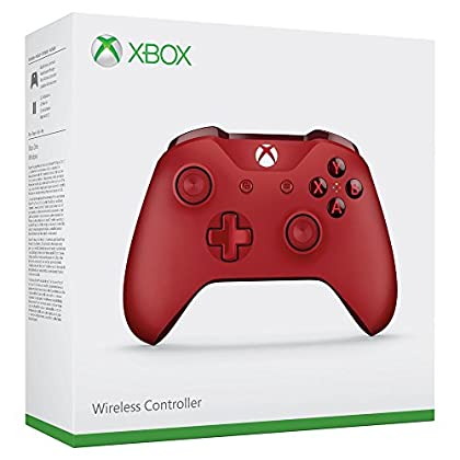 Microsoft - Mando Inalámbrico, Color Rojo (Xbox...
