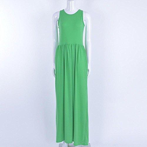Letter Mme robe de harnais dété élégante fête de plage Green