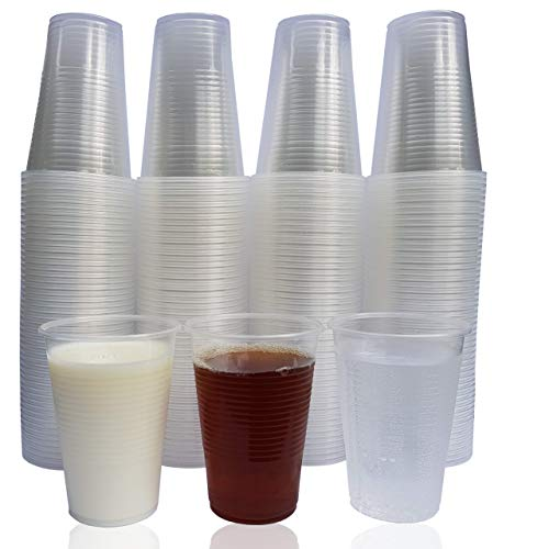 Eden Plastikbecher - Einweg Trinkbecher aus Bio-PP für Wasser und Andere Kaltgetränke - 0,2 Liter Stabile Wasserbecher - Becher ist Ideal für Party, Camping, Geburtstag, usw. - 200 Pack